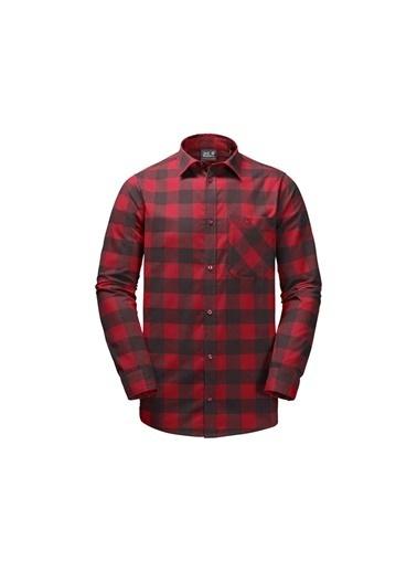 Jack Wolfskin Red River Erkek Gömlek - 1402551-7489 Kırmızı
